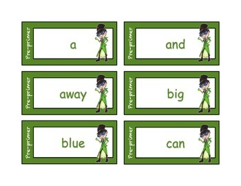 Dolch Sight Word Cards - silly character