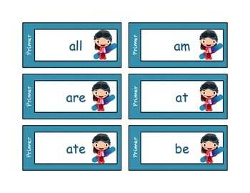 Dolch Sight Word Cards - snowboarder theme