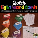Dolch Sight Word Cards with Assessments