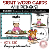 Dolch Sight Word Cards with PIctures Preschool to grade 2