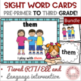 Dolch Sight Word Cards wtih Pictures:  Growing Bundle