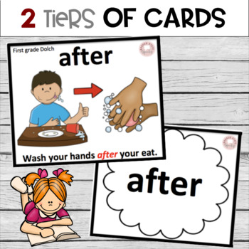 Sight Word Cards with Pictures (DOLCH):  A Bundle