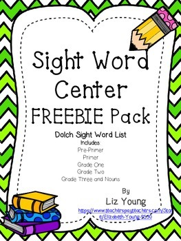 Dolch Sight Word Center FREEBIE
