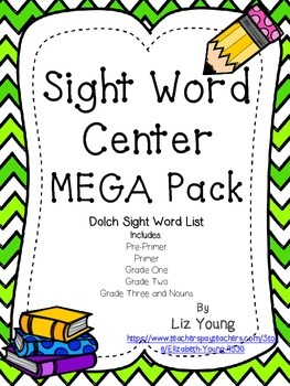 Dolch Sight Word Center MEGA Pack
