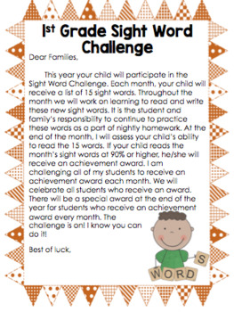 Dolch Sight Word Challenge
