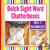 Dolch Sight Word Chatterbox Pre-K to 3 & Nouns COMPLETE LI