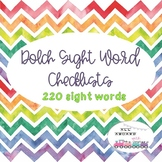 Dolch Sight Word Checklists