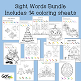 Sight Word Coloring Sheets -BUNDLE Holiday/Seasonal Year Round