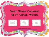Dolch Sight Word Coloring Worksheet - 1st Grade Level