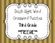 Dolch Sight Word Crossword Puzzles Third Grade**FREEBIE**