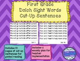 Dolch Sight Word Cut-Up Sentences - First Grade List