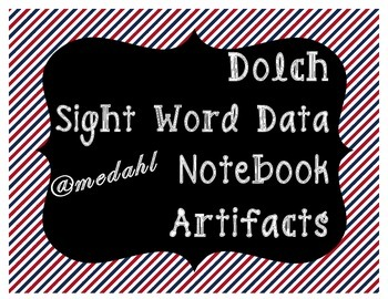 Dolch Sight Word Data Notebook Artifact