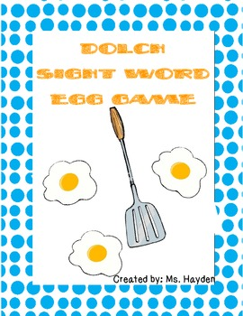 Dolch Sight Word Egg Games