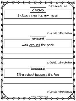 FREE Dolch Sight Words: Grade 2 & 3