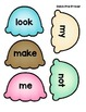 Dolch Sight Word Flash Card Ice Cream Game: All Levels