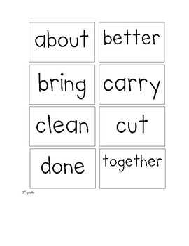 Dolch Sight Word Flash Cards - 1st - 3rd Grade