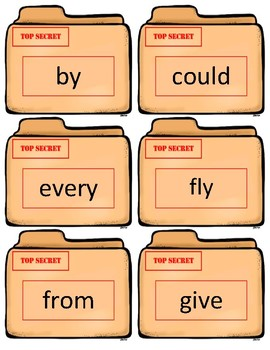 Dolch Sight Word Flash Cards~ 1st Case Files