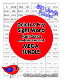 Sight Word Flash Card and Assessment Bundle