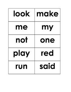 Dolch Sight Word Flash Cards