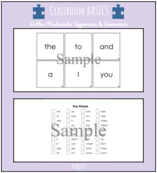 Dolch Sight Word Flash Cards & Assessment Packet