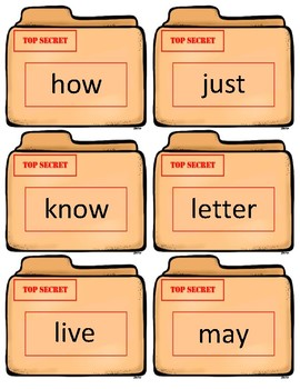 Dolch Sight Word Flash Cards~ K-3 and Nouns Case Files