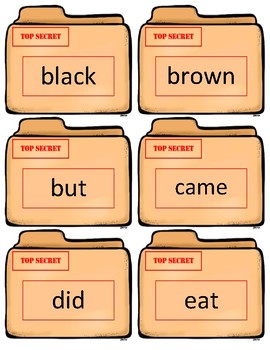Dolch Sight Word Flash Cards~ Kindergarten Case Files