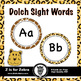 Dolch Sight Word Flash Cards & Nouns 316 cards - Animal Print