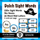 Dolch Sight Word Flash Cards & Nouns 316 cards - Pirate Theme