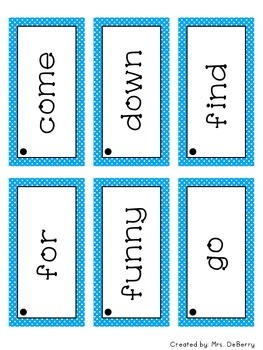 Dolch Sight Word Flash Cards Pre-Primer