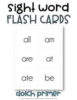 Dolch Sight Word Flash Cards, Primer