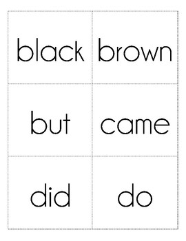 Sight Word Flash Cards, Dolch Primer