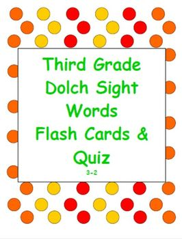 Dolch Sight Word Flash Cards & Quiz 3-2