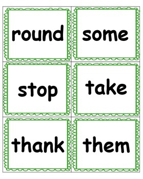 Dolch Sight Word Flash Cards, Tracking, & Assessment