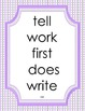 Dolch Sight Word Flash Cards and Posters (Second Grade Words)