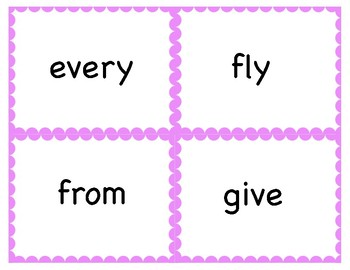 Dolch Sight Word Flashcards - 1st Grade