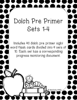 Dolch Sight Word Flashcards and Data Sheet