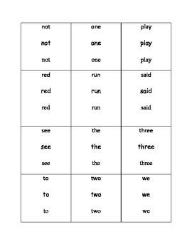 Dolch Sight Word Flip Book Pre-Primer Set