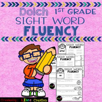 Dolch Sight Word Fluency 1st Grade