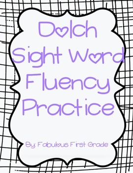 Dolch Sight Word Fluency Practice