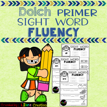Dolch Sight Word Fluency Primer