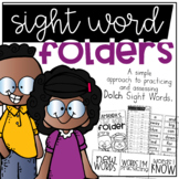 Dolch Sight Word Folder System for Practicing and Assessing Sight Words