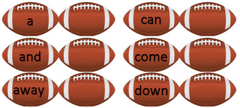 Dolch Sight Word Football Game