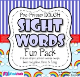 Dolch Sight Word Fun Pack