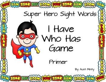 Dolch Sight Word Game Bundle. I Have Who Has Games: Pre-primer-3rd Grade