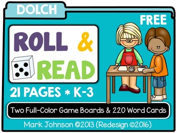 Dolch Sight Word Game ROLL AND READ  {freebie}