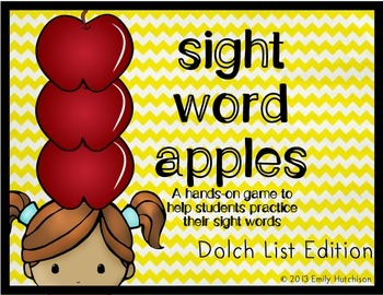 Dolch Sight Word Game-Sight Word Apples