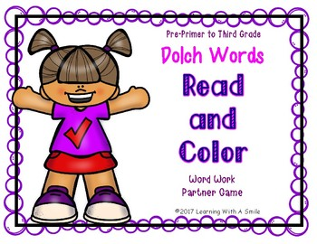 Dolch Sight Word Game: Word Work for Partners