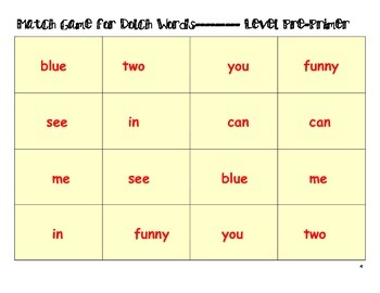 Free-Dolch Sight Word Games