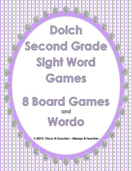 Dolch Sight Word  Games (Second Grade Words)