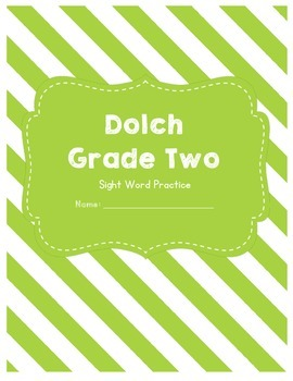 Dolch Sight Word Grade Two Worksheets